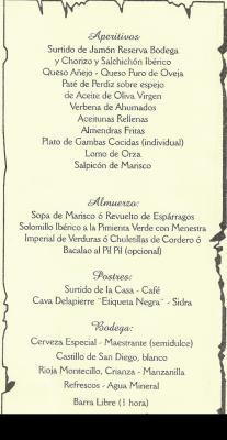 Menú Comida 2006