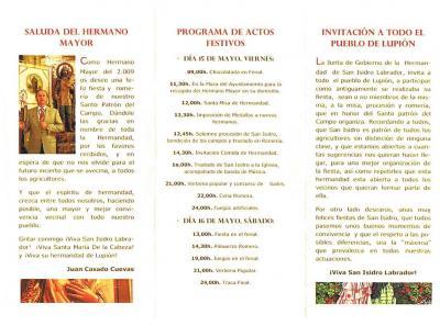Programa S. Isidro 2009