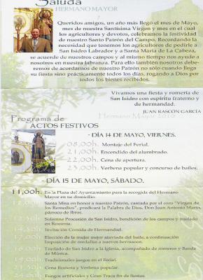 Programa S. Isidro 2010